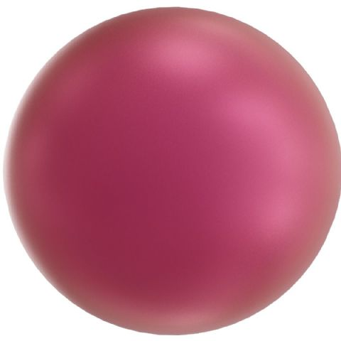5818 Round Half Hole Pearls, Mulberry Pink